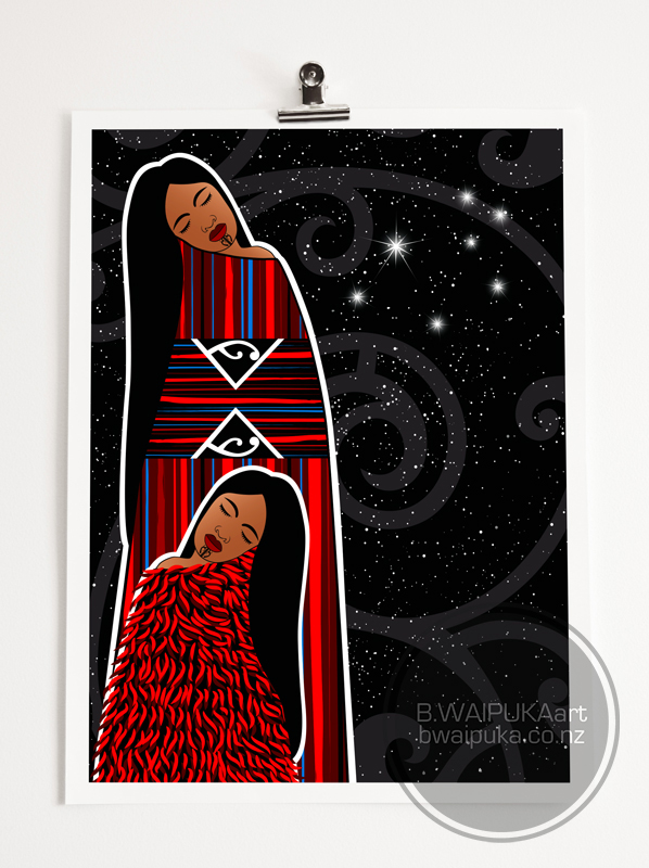 BWAIPUKAart limited edition artwork - Te Whit o Tu